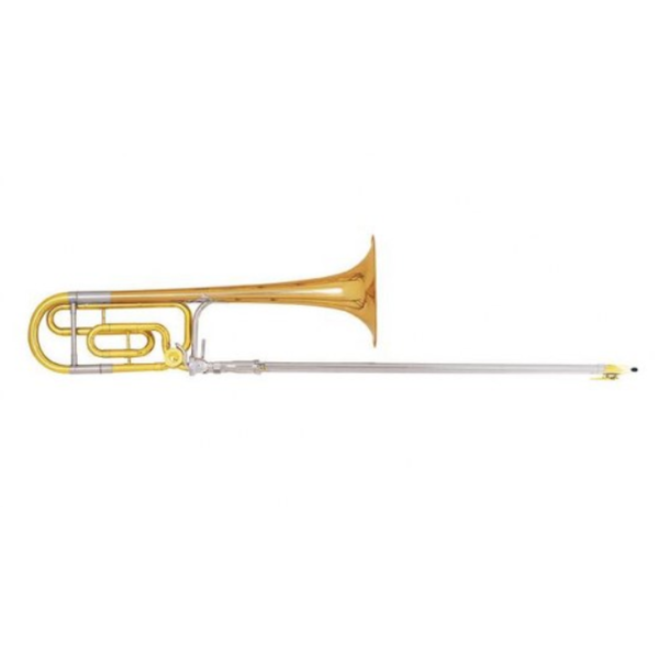 King King 4BFSP Legend Series Professional Tenor Trombone, F Rotor, Silver Plated