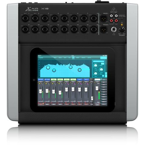Behringer X18 18-Channel 12-Bus Mixer, iPad