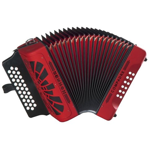 Hohner COFB Compadre Accordion FBbEb, Red w/ Gig Bag