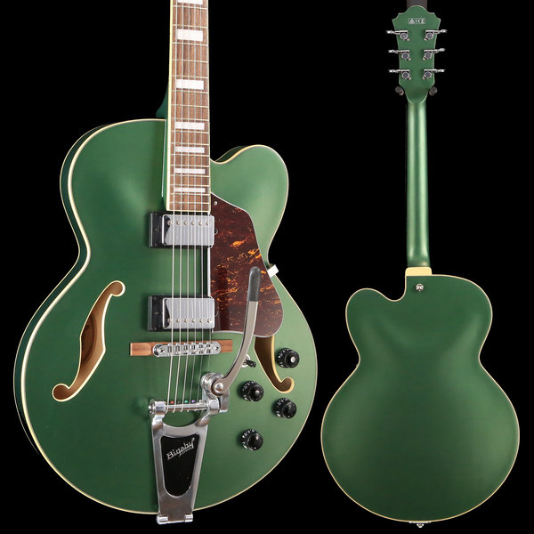Ibanez Ibanez AFS75TMGF AFS Artcore 6str Electric Guitar  - Metallic Green Flat S/N PW18121530