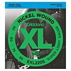 D'Addario EXL220S Nickel Wound Bass Strings, Super Light, 40-95, Short Scale