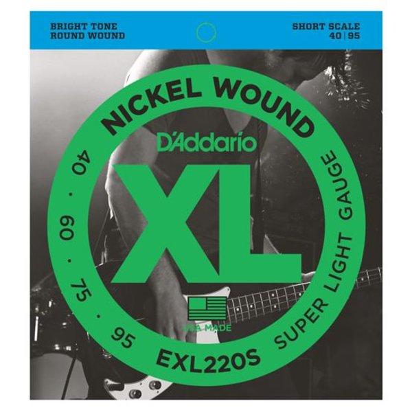 D'Addario D'Addario EXL220S Nickel Wound Bass Strings, Super Light, 40-95, Short Scale