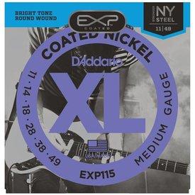 D'Addario D'Addario EXP115 Coated Electric Guitar Strings, Medium/Blues/Jazz, 11-49