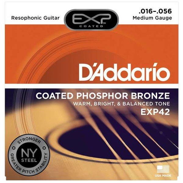 D'Addario D'Addario EXP42 Coated Resophonic Guitar Strings, 16-56