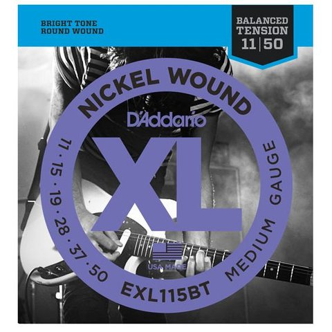 D'Addario EXL115BT Nickel Wound Electric Strings, Balanced Tension Medium, 11-50