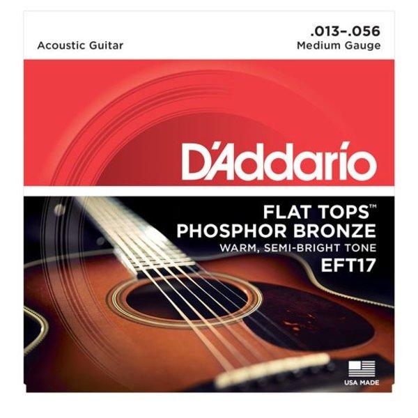 D'Addario D'Addario EFT17 Flat Tops Phosphor Bronze Acoustic Guitar Strings, 13-56