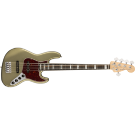 Fender American Elite Jazz Bass V, Ebony Fingerboard, Satin Jade Pearl Metallic
