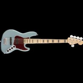 Fender American Elite Jazz Bass V, Maple Fingerboard, Satin Ice Blue Metallic