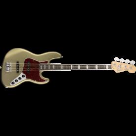 Fender American Elite Jazz Bass, Ebony Fingerboard, Satin Jade Pearl Metallic