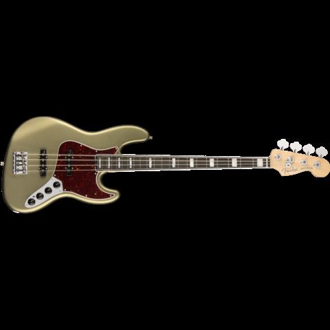 American Elite Jazz Bass, Ebony Fingerboard, Satin Jade Pearl Metallic