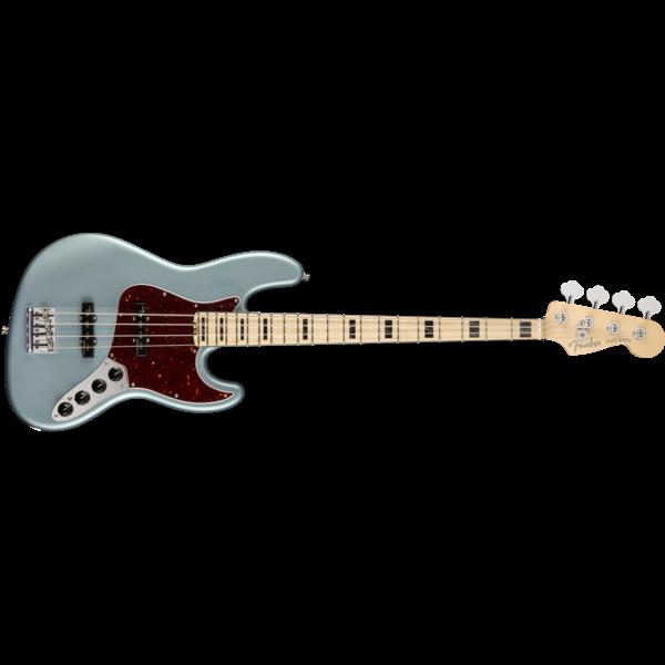 Fender American Elite Jazz Bass, Maple Fingerboard, Satin Ice Blue Metallic