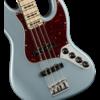 American Elite Jazz Bass, Maple Fingerboard, Satin Ice Blue Metallic