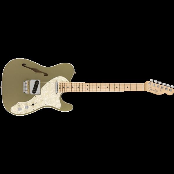 Fender American Elite Telecaster Thinline, Maple Fingerboard, Satin Jade Pearl Metallic