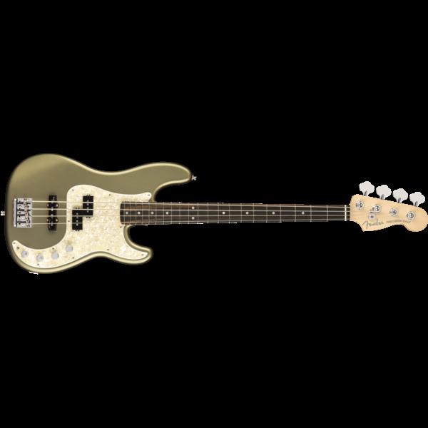 Fender American Elite Precision Bass, Ebony Fingerboard, Satin Jade Pearl Metallic