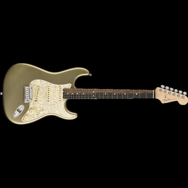 Fender American Elite Stratocaster, Ebony Fingerboard, Satin Jade Pearl Metallic