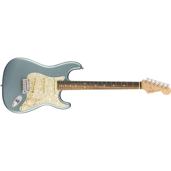 Fender American Elite Stratocaster, Ebony Fingerboard, Satin Ice Blue Metallic