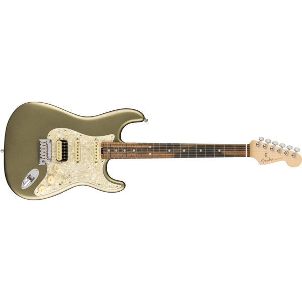 Fender American Elite Stratocaster HSS ShawBucker, Ebony Fingerboard, Satin Jade Pearl Metallic