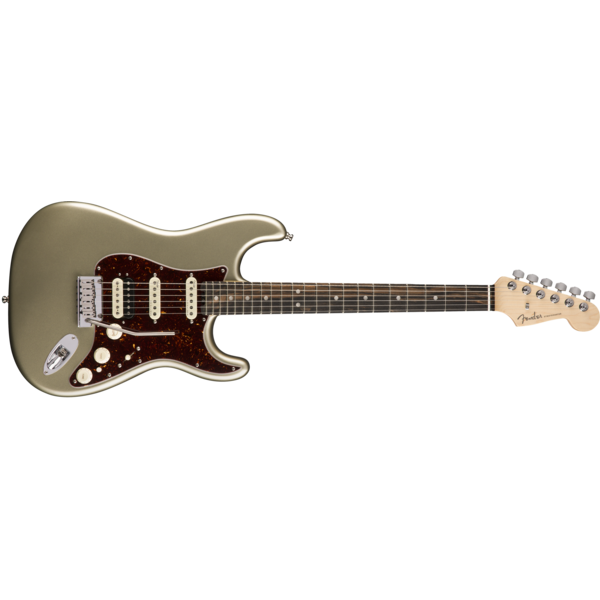 Fender American Elite Stratocaster HSS ShawBucker, Ebony Fingerboard, Champagne
