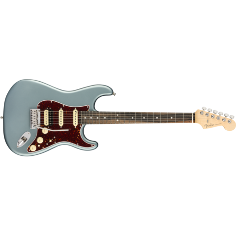 American Elite Stratocaster HSS ShawBucker, Ebony Fingerboard, Satin Ice Blue Metallic