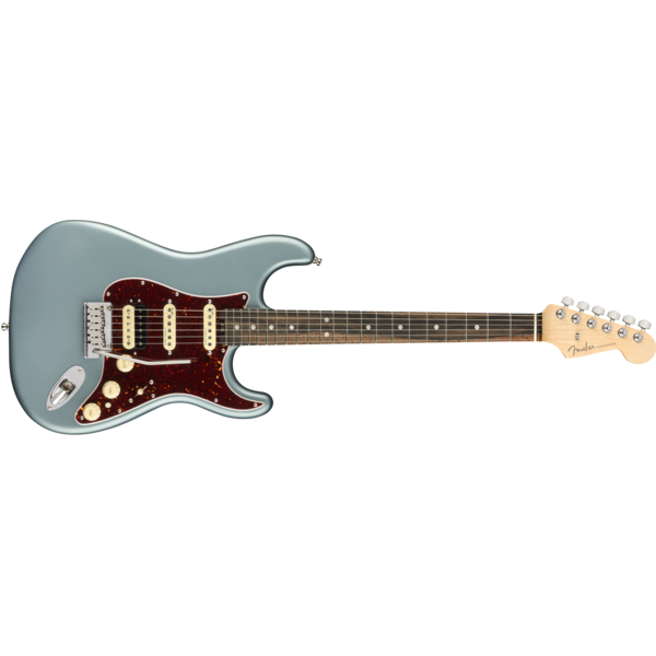 Fender American Elite Stratocaster HSS ShawBucker, Ebony Fingerboard, Satin Ice Blue Metallic