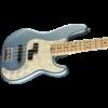 American Elite Precision Bass, Maple Fingerboard, Satin Ice Blue Metallic