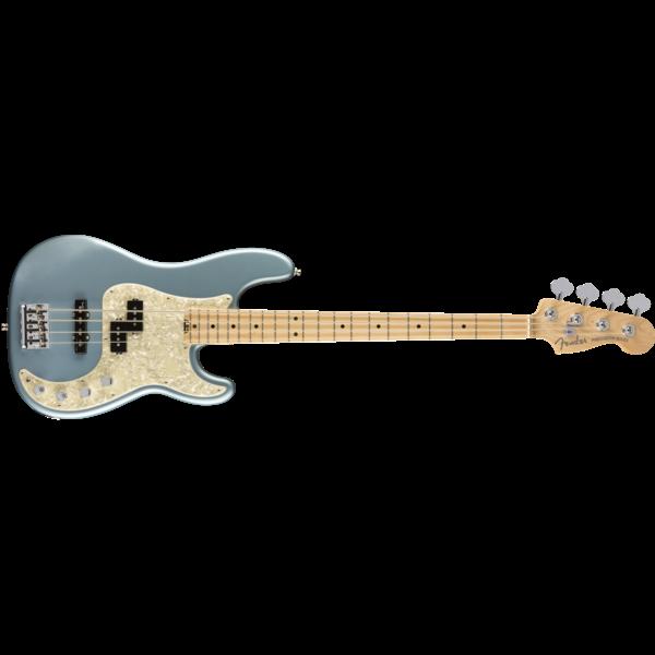 Fender American Elite Precision Bass, Maple Fingerboard, Satin Ice Blue Metallic
