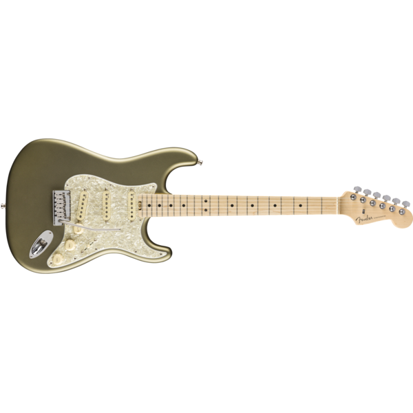 Fender American Elite Stratocaster, Maple Fingerboard, Satin Jade Pearl Metallic