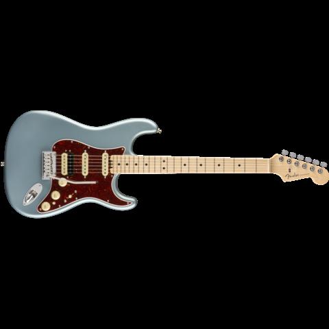 American Elite Stratocaster HSS ShawBucker, Maple Fingerboard, Satin Ice Blue Metallic
