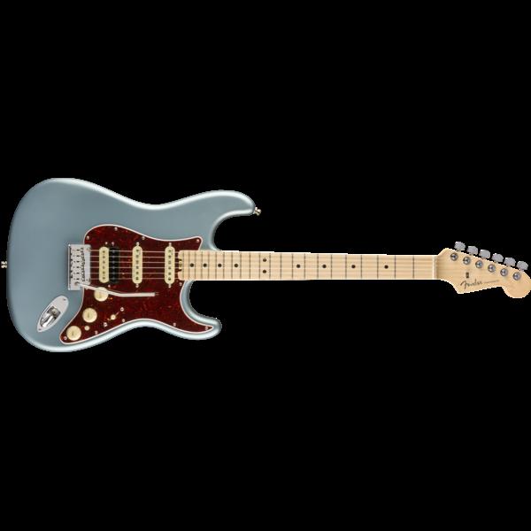 Fender American Elite Stratocaster HSS ShawBucker, Maple Fingerboard, Satin Ice Blue Metallic