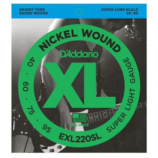 D'Addario D'Addario EXL220SL Nickel Wound Bass Strings Super Light 40-95 Super Long Scale
