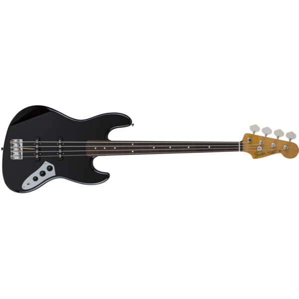 Fender MIJ Traditional '60s Jazz Bass Fretless, Rosewood Fingerboard, Black