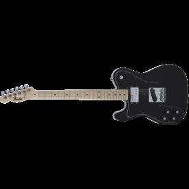 Fender MIJ Traditional 70s Telecaster Custom, Left-Hand, Maple Fingerboard, Black
