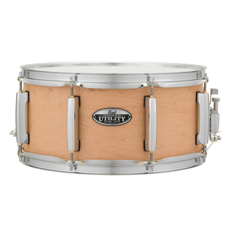 Pearl MUS1465M Modern Utility 6-Ply Maple Snare Drum, 14x6.5 Matte Natural