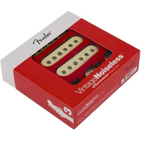 Fender Vintage Noiseless Strat Pickups, (3), Aged White