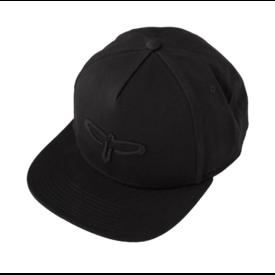 PRS PRS Flat Bill Baseball Cap, Black PRS Bird Logo