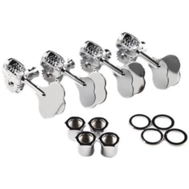 Fender Deluxe ''F'' Stamp Bass Tuning Machines, Left-Hand, (4), Chrome