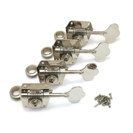 Fender Pure Vintage Bass Tuning Machines, Nickel-Plated Steel, (4)