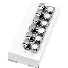 Fender Locking Strat/Tele Tuning Machines, Left-Handed Polished Chrome (6)