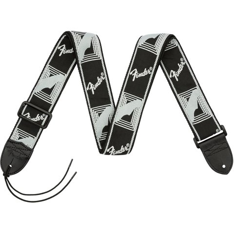 Fender 2'' Monogrammed Strap, Black/Light Grey/Dark Grey