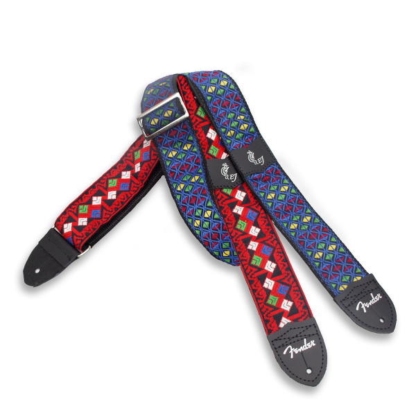 Fender Eric Johnson ''The Walter'' Signature Strap, Blue with Multi-Colored Triangle Pattern