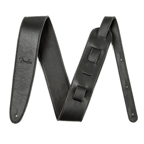 Artisan Crafted Leather Strap, 2.5'' Black