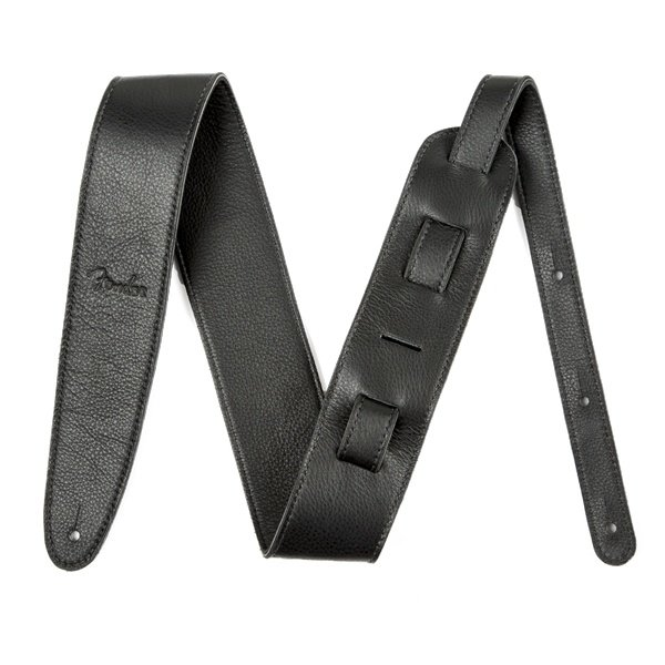 Fender Artisan Crafted Leather Strap, 2.5'' Black