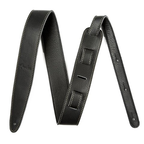 Artisan Crafted Leather Strap, 2'' Black