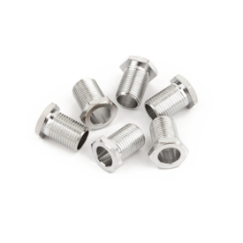 Fender Tuning Machine Bushings - American Deluxe/American Series Guitars, Chrome (6)