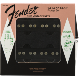 Fender Pure Vintage '74 Jazz Bass Pickup Set, Black (2)