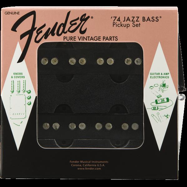 Fender Pure Vintage '74 Jazz Bass Pickup Set, Black (2)