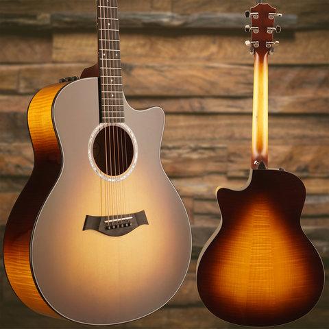 Taylor 416ce LTD Limited Edition Sitka Top, Figured Big Leaf Maple B&S S/N 1108228097