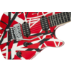 EVH Wolfgang Special, Ebony Fixed Bridge Red Black White Stripes