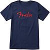 Fender Foil Spaghetti Logo T-Shirt, Blue, L