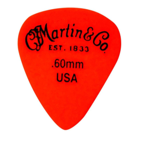 Martin Pick, Standard, Delrin, .60mm, Orange, HG